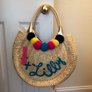 Lilly Pulitzer straw tote